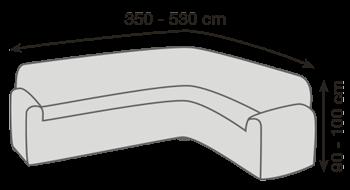 Veľkosť rohovej sedačky pro napínacie poťahy