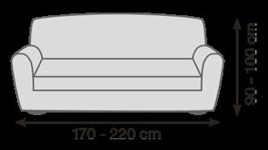 Veľkosť sedačky pro napínacie poťahy