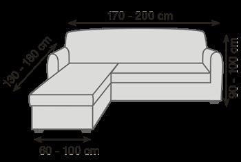 Veľkosť sedačky s otomanom pro napínacie poťahy