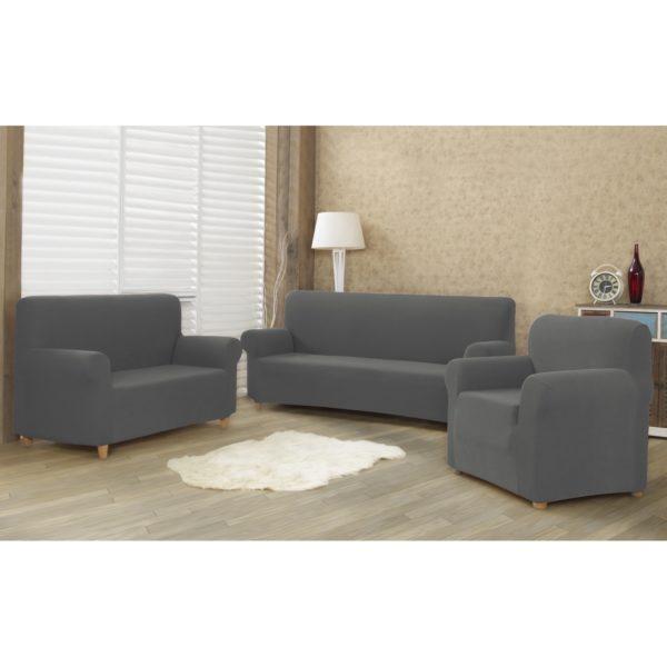 4home Multielastický poťah na sedaciu súpravu Comfort sivá