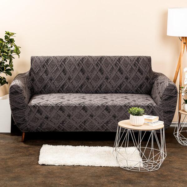 4Home Multielastický poťah na sedačku Comfort Plus sivá